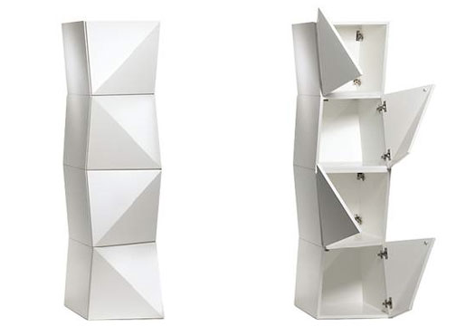 Incroyable Origami By Reflex Angelo. Funky Opening On This Cabinets.