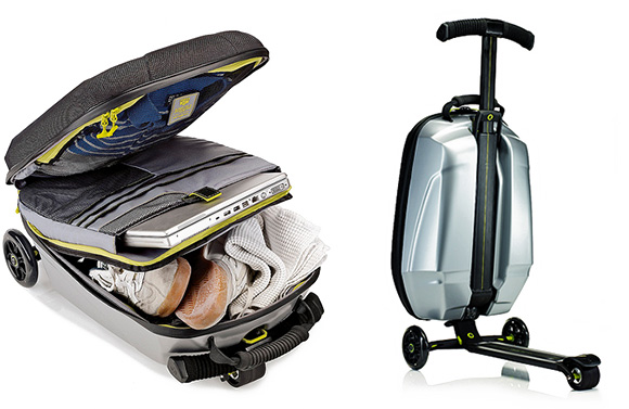 Trolley Luggage by Samsonite and Micro Scooter